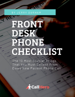 FRONT DESK PHONE CHECKLIST